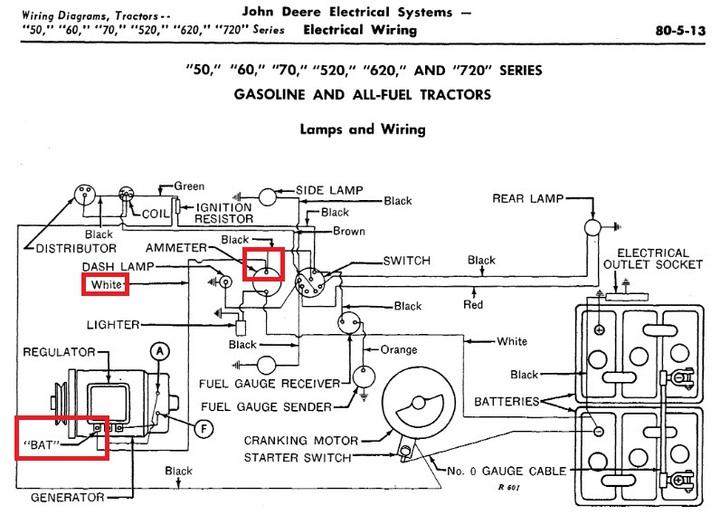John Deere 3010 Lights Wiring Diagram 53 Jd 50 Voltage Regulator 3 Yesterday S Tractors