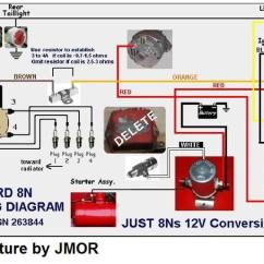 9n 12v Wiring Diagram Spst Lighted Switch Ford N - Yesterday's Tractors