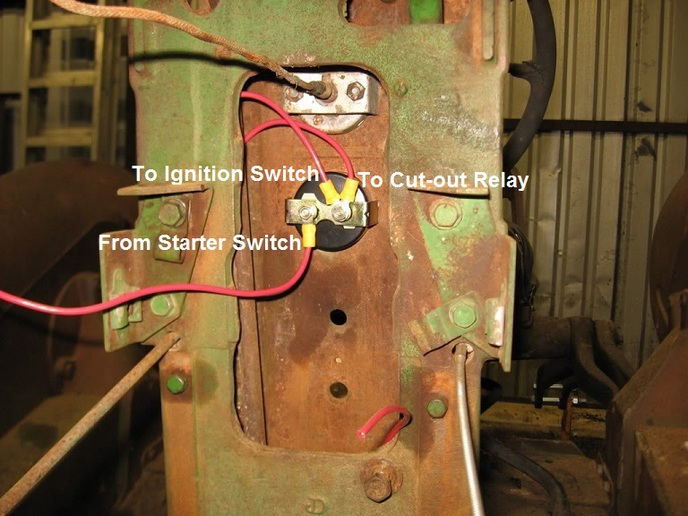 wiring diagram for relay switch fuel pump 1988 ford ranger jd model m - yesterday's tractors