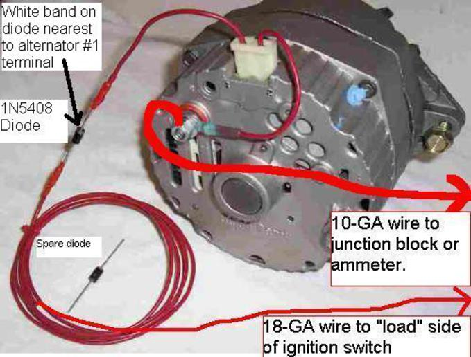 Alternator Wiring Diagram On Three Wire Alternator Wiring Diagram Gm