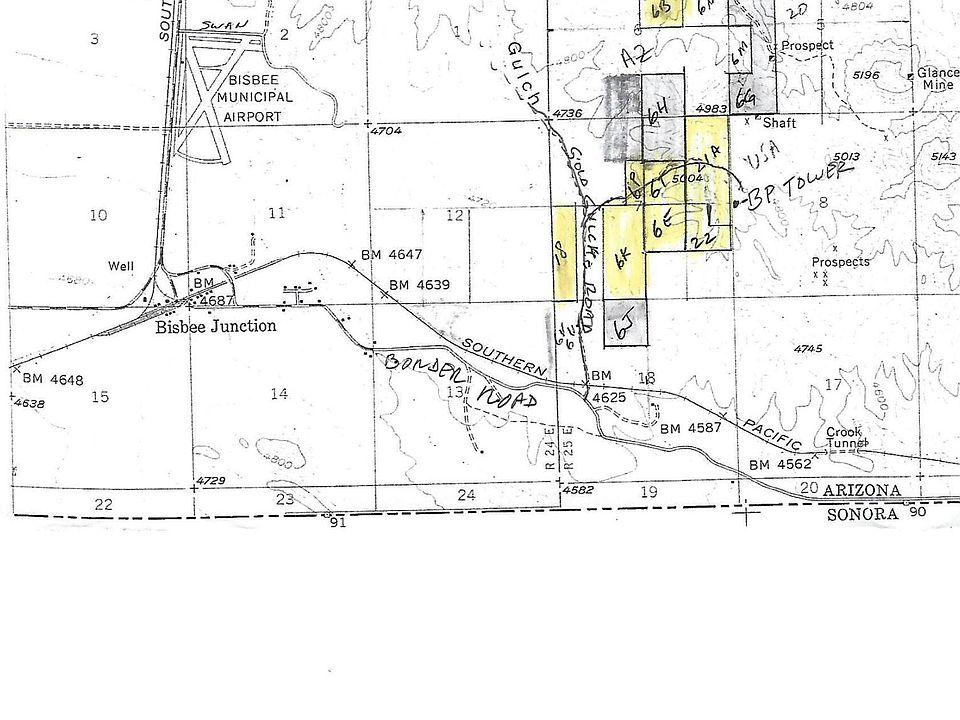 Bisbee Arizona Map