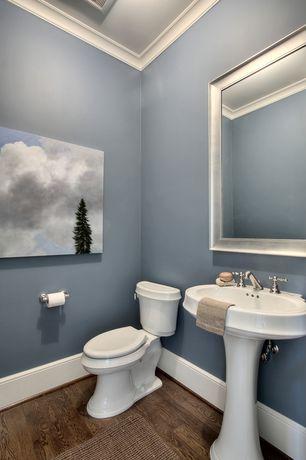 kitchen backsplash lighting shelving ideas powder room pedestal sink design & pictures | zillow ...