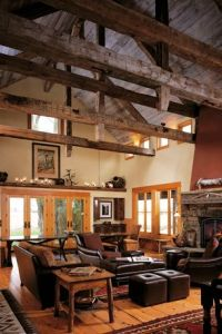 Rustic Living Room with Wall sconce by maragai | Zillow ...