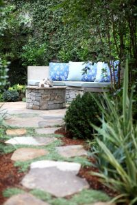 Cottage Patio with Pathway by Garden Studio Design ...