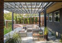 Modern Patio with exterior stone floors by Design Platform ...