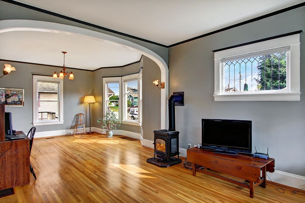 Traditional Living Room with Hardwood floors by Brooke