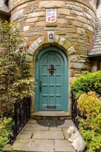 Traditional Front Door with exterior tile floors & Glass ...