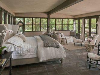 cottage master bedroom bedrooms greek column floors cathedral ceiling zillow