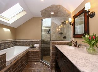 Cottage Powder Room with High ceiling  Pedestal Sink in