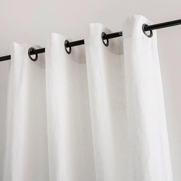 rideau propriano 100 lin a œillets blanc 140x280cm