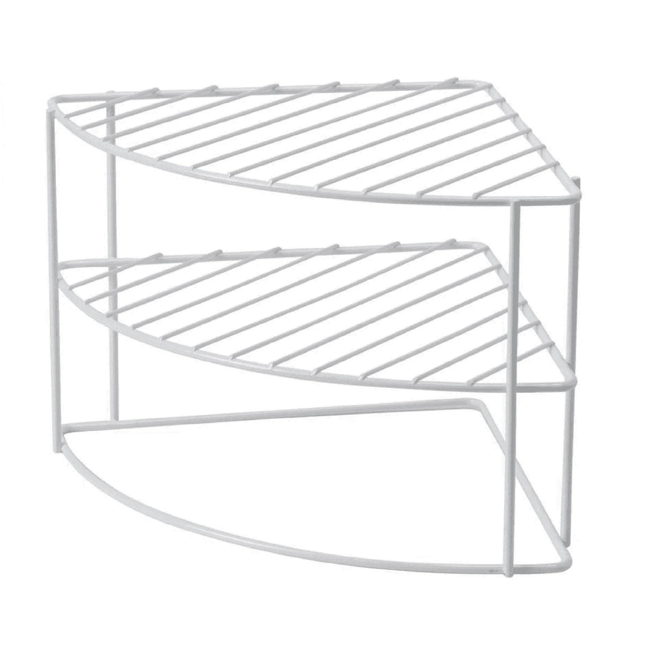 etagere d angle arrondie blanche 26x21cm
