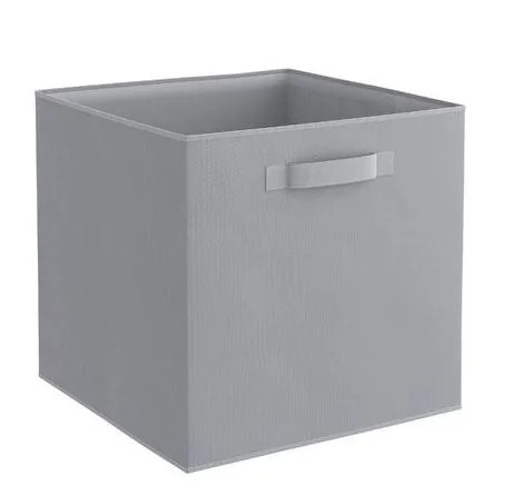 panier rangement intisse l gris granit 31x31x31 spaceo