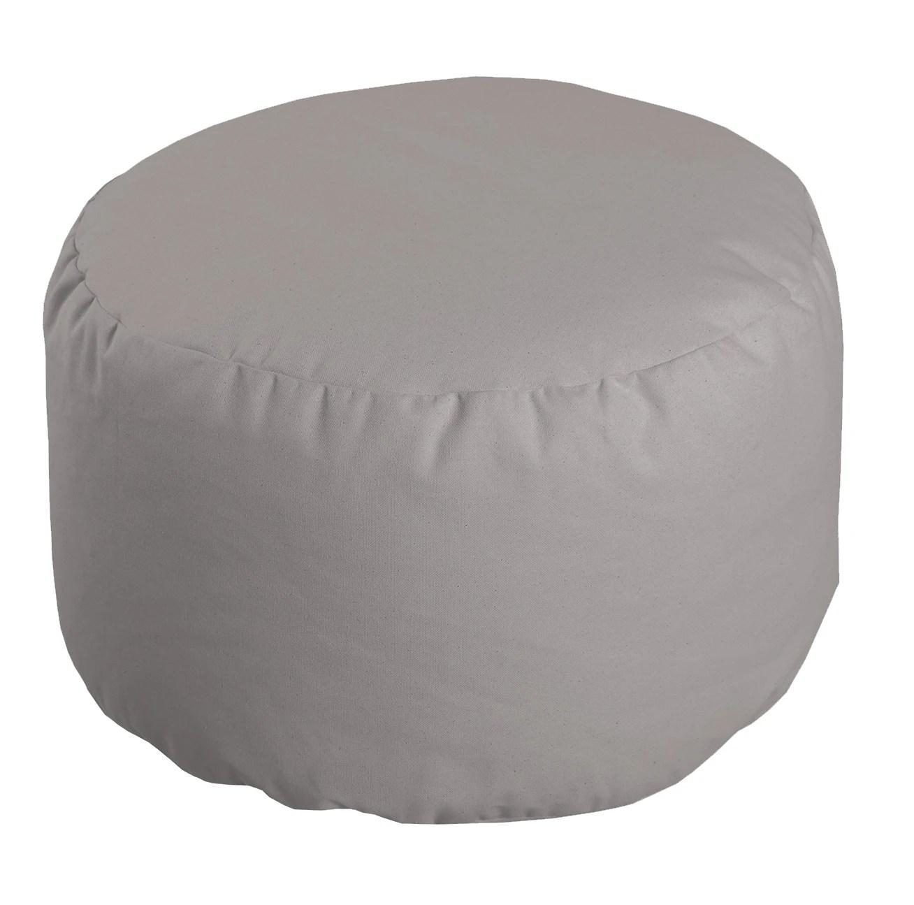 pouf rond romeo gris 50x30cm