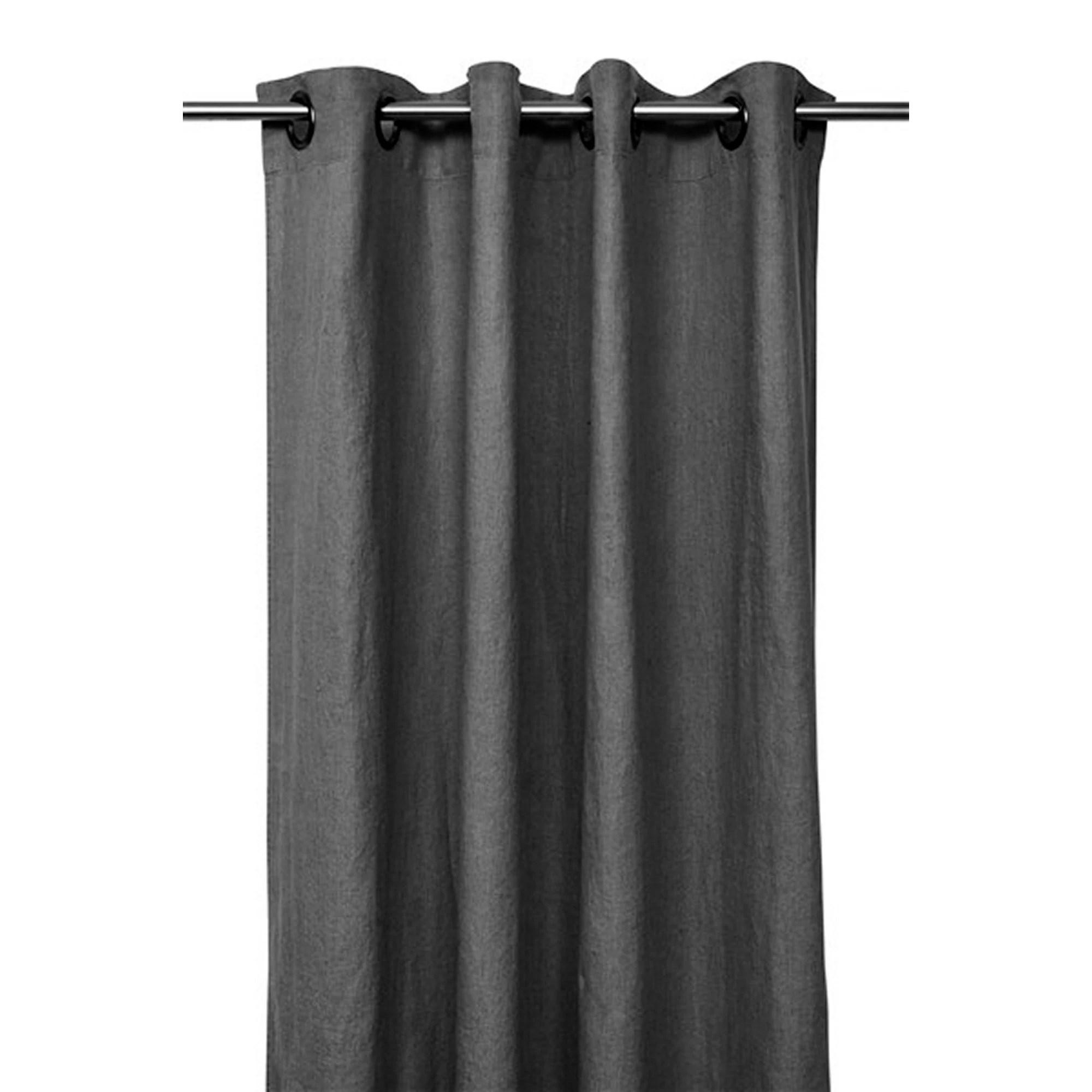 rideau propriano gris granit en lin 140x280cm