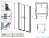 Radaway Eos DWD Drzwi wnękowe 120 szkło przejrzyste 37773