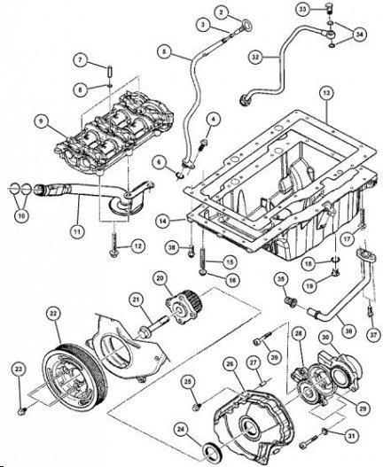 Koło zębate wału korbowego 5066978AB Jeep Liberty KJ 2