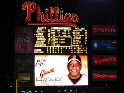 Barry Bonds on Phanavision for final time in 2006.