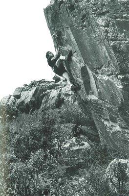 John Gill en Sunshine Boulder, Horsetooth