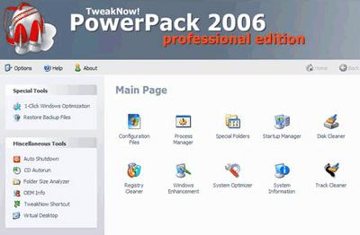 TweakNow Power Pack 2006
