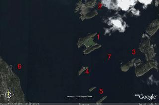 Kart indre oslofjord
