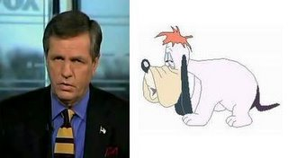 Oh my god, Brit Hume's melting!