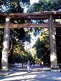 entrance of Meiji Shrine