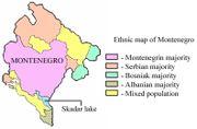 mapa de la compsosicion etnica de Montenegro