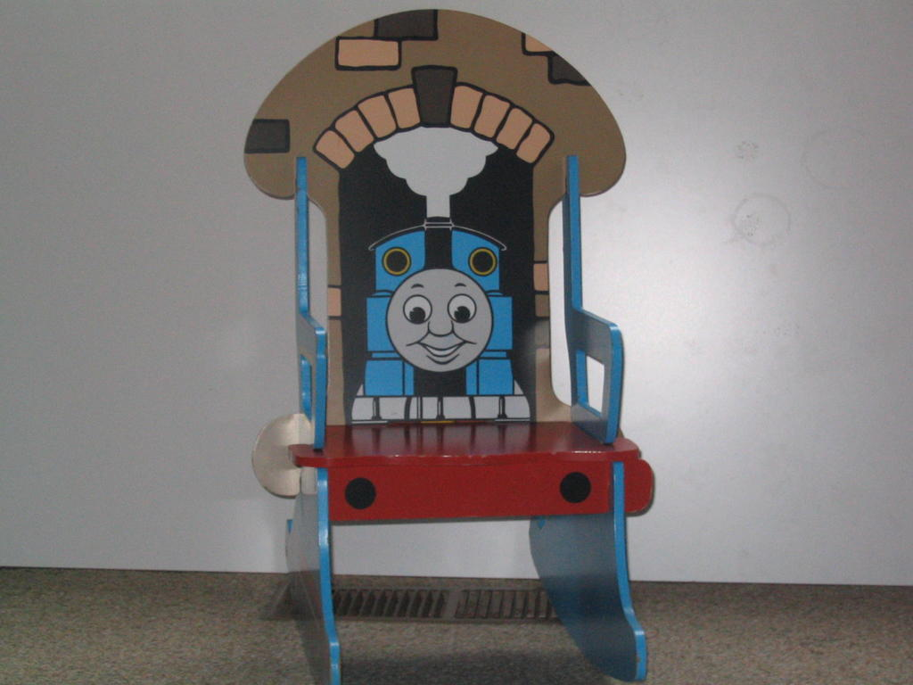 thomas train chair blue metal chairs the depot tank rocking