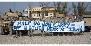 Halp us Jon Carry--We R stuck hear N Irak