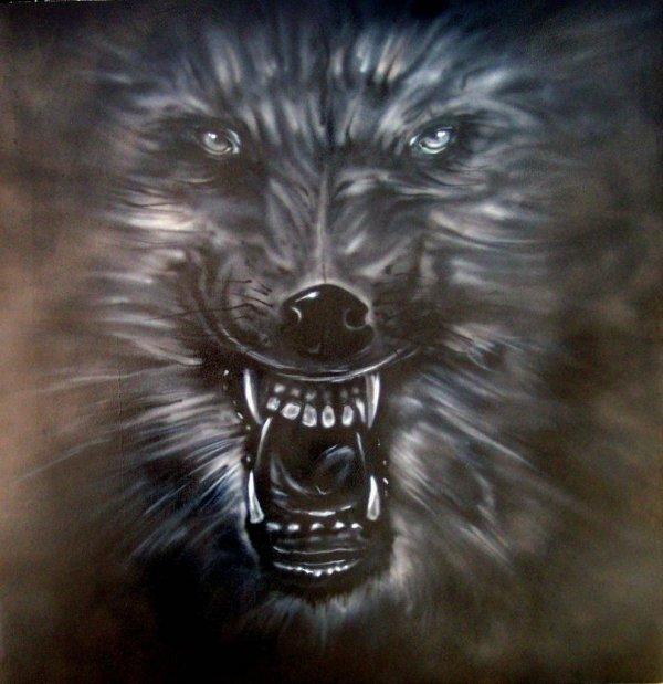 Wolf Airbrush Art