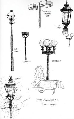 Sketches and Drawings: challenge 81--draw a lamp post