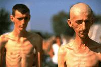 Photo: Bosniak civilians in Serb-run Trnopolje Concentration Camp