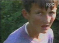 Bosniak child being led away and killed during Srebrenica massacre. (Never Forget 7/11/1995 - Srebrenica Genocide)