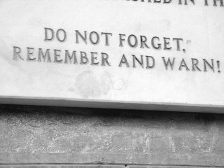 From the plaque outside the University/National library in Sarajevo that, in August 1992, was set on fire by Serb military forces, burning for days, destroying millions of very rare historical documents and artifacts.