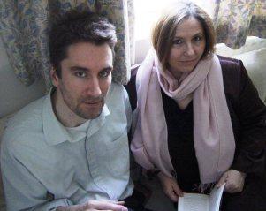 Emotionally literate: Frank and Fiona Klimaschewski pose with an Emile Zola novel