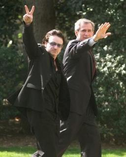 Bono and President Bush