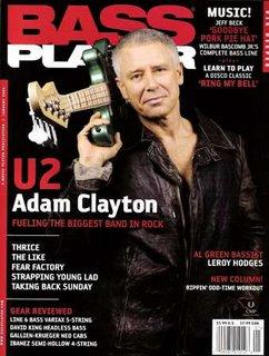 Adam Clayton en Bass Player Magazine