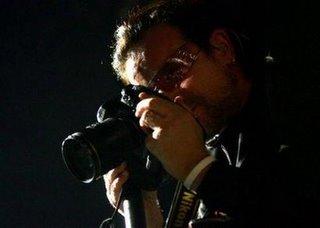 Bono in U2 Vertigo Concert in Montreal