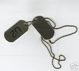 U2 Dog Tags & Chain