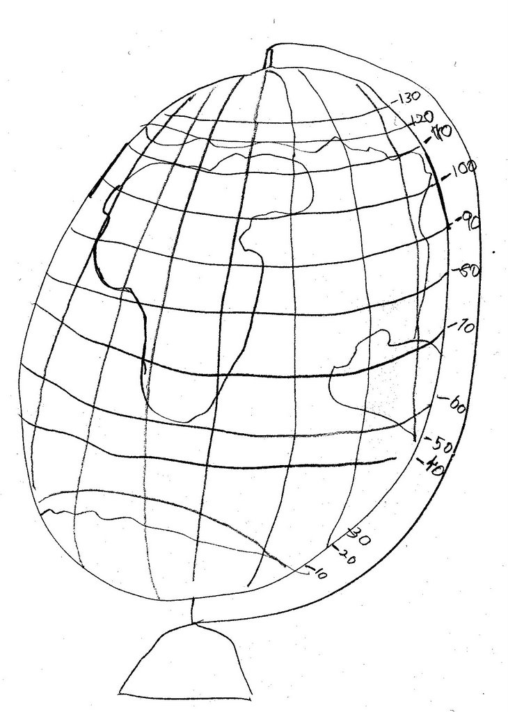 The Map Guys: Globe Coloring Page