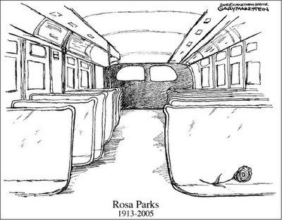 BLACK BLOGGAH: Rosa Parks editorial cartoons from across