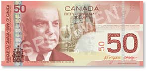 Billet de 50$ canadien