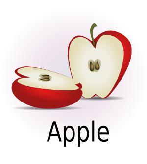 humbliceous apple halves