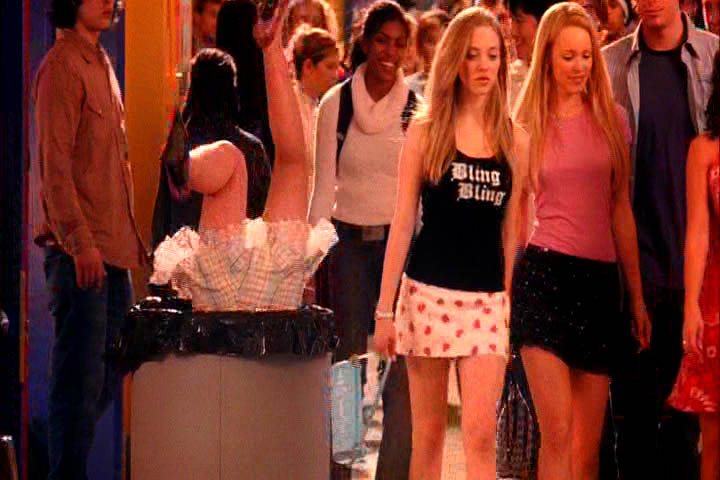 Image result for mean girls  cady trash can