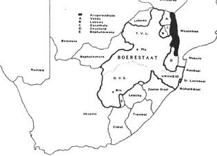 Volkstaat: The Volkstaat map of the AWB