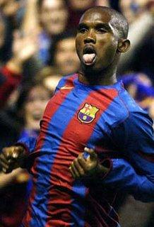 Eto'o, gran futbolista, pero con una gran boca también.