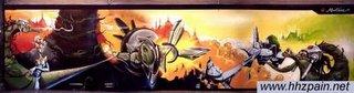 Graffiti del Dibone, uno de los mejores escritores de España. Actualmente, trabaja en una agencia de publicidad en Barcelona