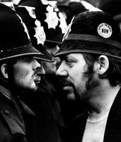 Don McPhee photo of miner and policeman