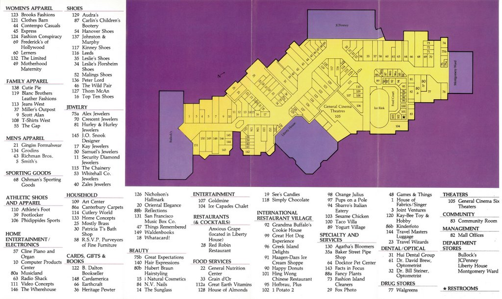 Fashion Island Mall Stores Map