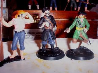 FRONT Captain, Oarsman and Irish Pirate